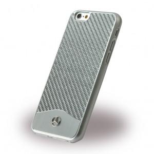 Mercedes-Benz Wave V Carbon Fiber + Brushed Aluminum Hard Case for iPhone6/6s Silver