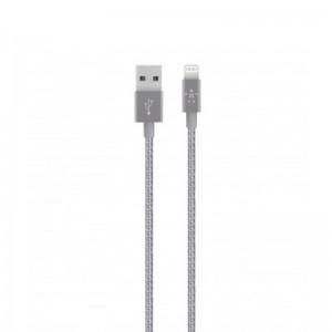 Porodo Micro Usb Cable 1.2m Braided Metal Tips - Grey