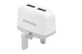 Porodo Slim Home Charger 2.4a With 2 Usb Output Uk (3-pin) (Includes Micro Usb Cable)