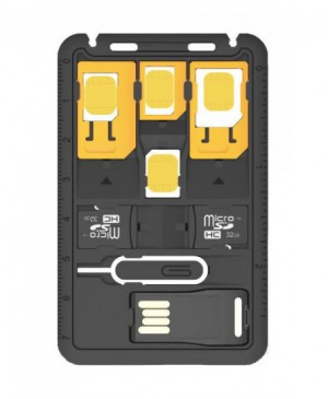 Promate SIMate-2 Multi-Function 8-in-1 SIM Card Holder