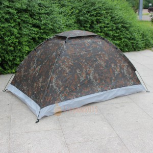 Waterproof 2 person Camouflage Outdoor Camping Hiking Folding Tent 4 season UK