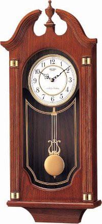 Rhythm Wooden Wall Clock Chime - CMJ303ER06