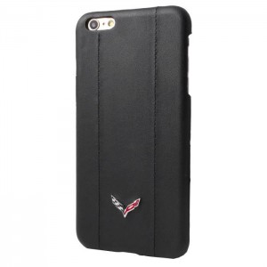 Corvette Hard Case for iPhone 6/6s PU Leather Finish - Black