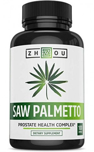 Zhou Nutrition Saw Palmetto Supplement For Prostate Health - Extract & Berry Powder Complex To Promote Healthy Urination Frequency & Flow - 500mg Capsules