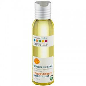 "Natures Baby - Baby Oil "" Organic "" Mandarin Coconut 4 Oz"