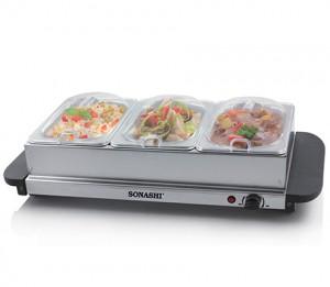 Sonashi 3-Station Buffet Server Warmer SBW-1003