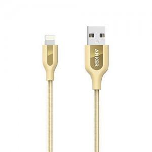 PowerLine+ Lightning Cabel 3ft Golden