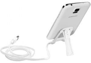 Promat Pose-M Micro-USB Sync and Charge Stand with Flat Cable for Mobile Phones