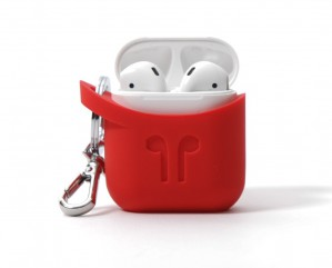 Pod Pocket Silicon Case for Airpods-Red