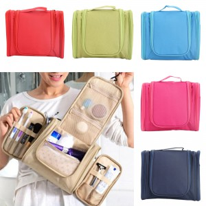 Waterproof Cosmetic Organizer Hanging Travel Toiletary Storage Bag