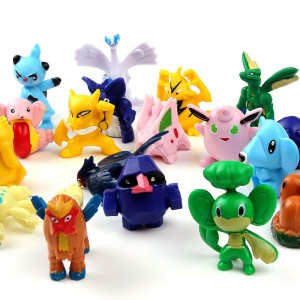 24pcs Mixed Lots Pokemon Mini Figures Kids Toy Random 2-3cm in height (toy figures Varies by package)