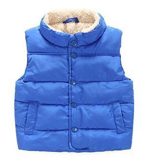 Taiycyxgan Toddler Kid Boys Girls Winter Fleece Vest High Neck Warm Waistcoat Jacket-Blue -120(4-5 years)