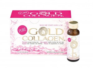 Minerva Research Labs Pure Gold Collagen 10 Day Programme Food Supplement 10 X 50ml