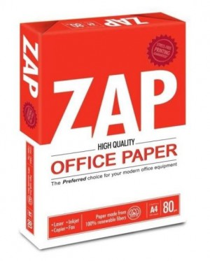 Zap A4 Photocopy Paper (500 sheets per each pack)