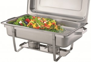 CHAFING DISH STAINLESS STEEL- SINGLE PAN 8 ltr. VCD001
