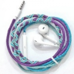 Access - Handmade Tribe Rope Earphone with Mic for iPhone and Android Devices - Multi Color