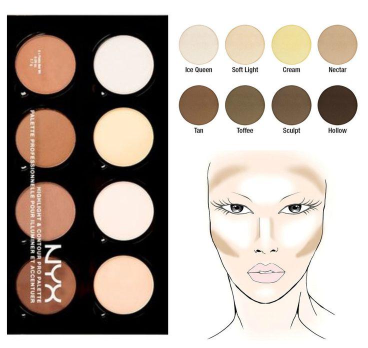 ผลการค้นหารูปภาพสำหรับ nyx highlight & contour pro palette