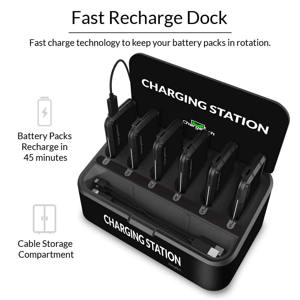 Chargetech Portable Battery Dock Charging Station 6 Buy