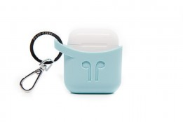 Pod Pocket Silicon Case for Airpods-Aqua Blue