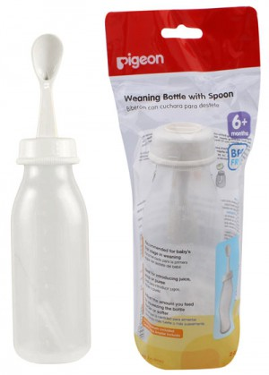 Pigeon Weaning Bottle With Spoon 240ml