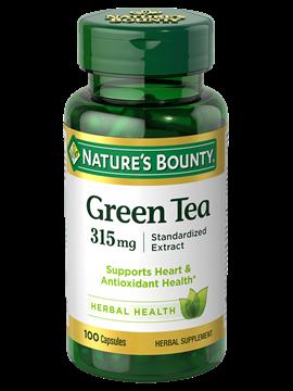 Nature's Bounty  Green Tea -315 mg- 100 Capsules