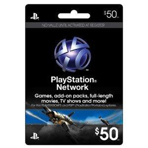 Playstation Network Card $50 (US)