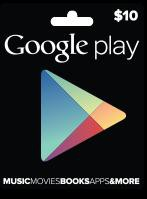 Google Play Gift Cards $10