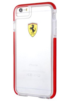 Ferrari Shockproof Racing Shield Hard Case For iPhone 7 Red - FEGLHCP7RE