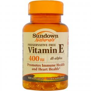 Sundown Naturals, Vitamin E, 1000 IU, 100 Softgels