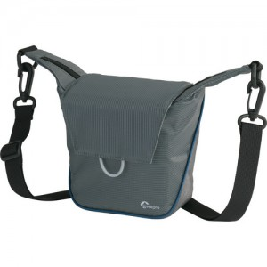 Compact Courier 80 Shoulder Bag (Gray with Arctic Blue Piping)