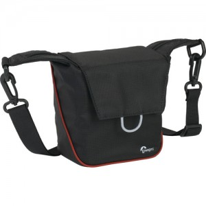 Lowepro Compact Courier 80 Shoulder Bag (Black with Red Piping)