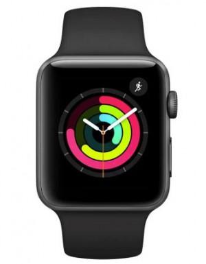 Apple Watch S3 GPS 42mm Space Grey Aluminium Case with Black Sport Band - AP1MQL12