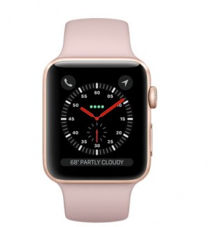 Apple Watch S3 GPS 42mm Gold Aluminium Case with Pink Sand Sport Band - AP1MQL22