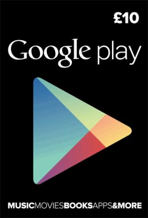 Google Play gift card UK 10 pound
