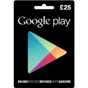 Google Play gift card UK 25 pound