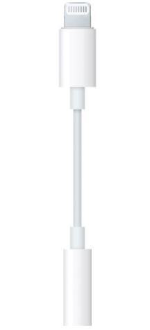 Apple Lightning Headphone Jack Adapter - White