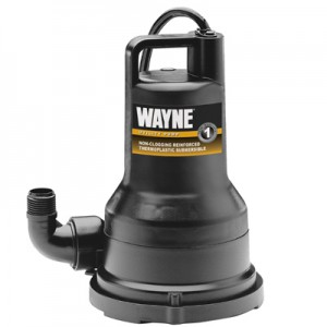 Wayne Water Systems VIP50 Submersible Non-Clogging Votex Design Utility Pump, .5-HP Motor
