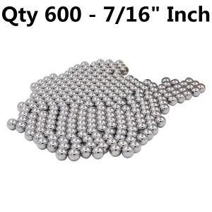 """XiKe 600716X (600 Qty) 7/16"""" Steel Balls, Slingshot Ammo Steel shot - G100"""
