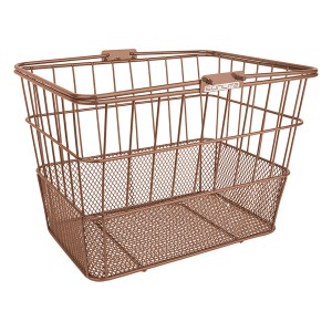 Sunlite Standard Mesh Bottom Lift-Off Bike Basket Brown