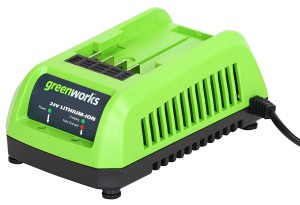 GreenWorks 24 V Lithium Ion Battery Charger for New Enhanced Batteries - 29702