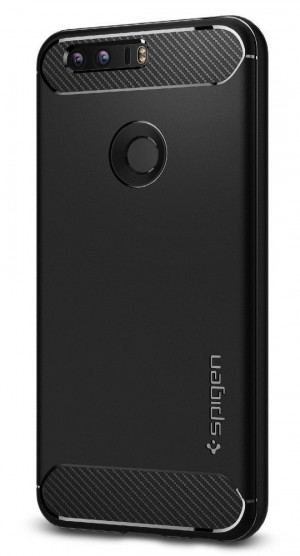 Spigen Rugged Armor Honor 8 Case with Resilient Shock Absorption for Huawei Honor 8 2016 - Black