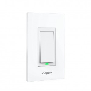 Koogeek Smart WiFi Light Switch for Apple HomeKit with Siri Remote on 2.4Ghz Network, No Hub Required, Single Pole (Color: 1-Gang)