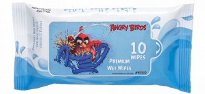 Angry Bird - Premium Wet Wipes - Blue