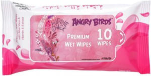 Angry Bird - Premium Wet Wipes - Pink