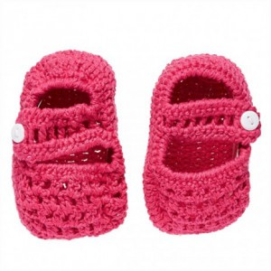 The Smurfs - Baby Crochet Shoes - Pink (6-9 Months)