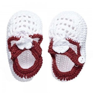 The Smurfs - Baby Crochet Shoes - White (0-3 Months)