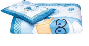 The Smurf - 2PCs Comforter Set Comforter - 83x103cm Pillow - 25x36cm - Light Blue