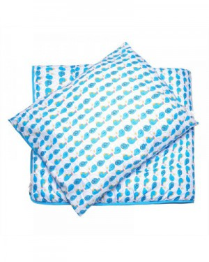 The Smurf - 2PCs Comforter Set Comforter - 120x140cm Pillow - 50x60cm - Blue