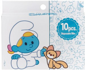 The Smurf - Box of 10 Disposable Bibs