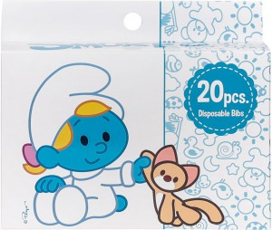 The Smurf - Box of 20 Disposable Bibs